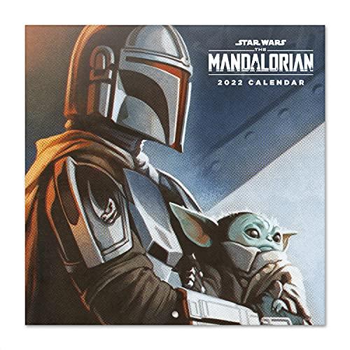 Grupo Erik - Calendrier 2022 Star Wars, The Mandalorian - 12 Mois | Calendrier Mural, De Janvier à Décembre 2022 | 30 x 60 cm, 6 langues, 1 Poster Inclus, Certifié FSC