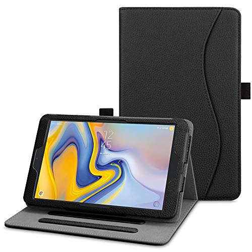 Fintie Case for Samsung Galaxy Tab A 8.0 2018 Model SM-T387 Verizon/Sprint/T-Mobile/AT&T, Multi-Angle Viewing Stand Cover with Pocket, Black