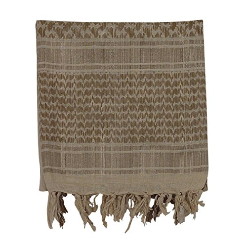 VooDoo Tactical 08-3065025000 Woven Coalition Desert Scarves, Sand/Tan