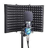 YR Mikrofon Isolation Schild, Studio Mic Schalldämmmaterial Foam Reflektor, für Studio...