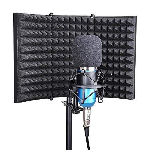 YWT Escudo de Aislamiento de micrófono, Espuma de absorción de...