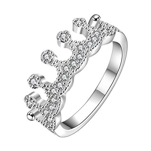 Estilo Caliente de joyería Noble 925 bañado en Plata de Mano para Mujer diseño de Corona...