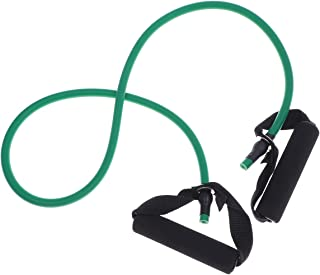 Yoga Elastic Fitness Exercise Pull Rope Exercise Resistance Bands Workout Bands with Handle for Women (Black + Red)