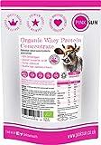 PINK SUN Organic Whey Protein Concentrate Powder Unflavoured 420g (80% Protein) SOYA Free, Grass Fed, Gluten Free, Hormone Free, No Additives, Vegetarian, Undenatured, Non GM Certified Bio UK