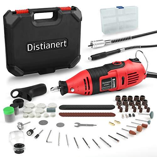 Distianert Amoladora Eléctrica 135W, Herramienta Rotativa Mini Multifuncionl Sin Llave/Eje Flexible 160...