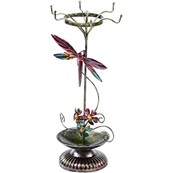 La Contessa Bejeweled Bird Pewter Ring Holder