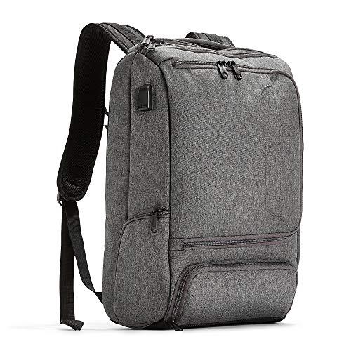 eBags Pro Slim USB Laptop Backpack (Heathered Graphite w/USB)
