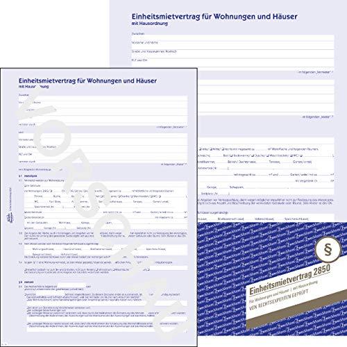 AVERY Zweckform 2850 Einheitsmietvertrag für Wohnungen und Häuser (Vertrag mit Hausordnung, regelt alle Punkte des Mietverhältnisses, 6-seitiges Formular in A4, selbstdurchschreibend) 5 Stück blau