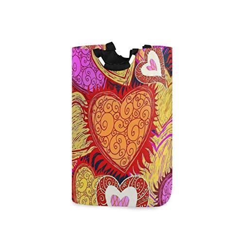 N\A Wäschekorb Faltbarer Eimer kollabiert Wäschekorb Künstlerischer Herzwaschbehälter für Heimorganisator Kinderzimmer Aufbewahrung Babykorb Kinderzimmer