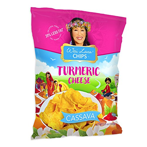 Superfood Cassava Chips (12 Pack of 3.5 Ounce Individual Bags) - Flavor: Turmeric Cheese - Vegetarian, Gluten Free, Non-GMO, Zero Trans Fat – Wai Lana