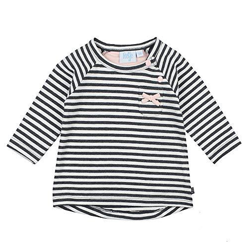 Feetje T-shirt rayé à manches longues top bébé vêtements bébé, anthracite/blanc