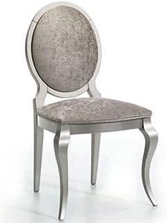 Zadise | Silla Clásica | Medidas 41 x 96 x 50 cm. | Status | Madera Haya Maciza Cómoda | Lacado | Tela Resistente | Pata Delanteras Isabelina | Diseño Elegante.