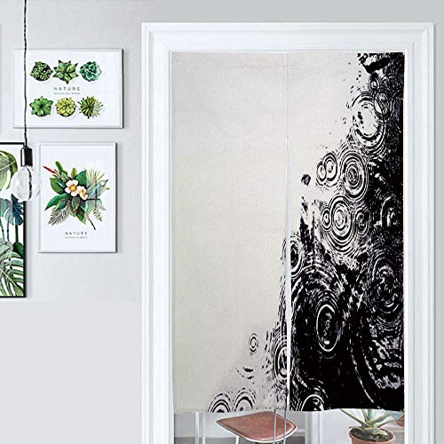 SUPNON Hanging Japanese Noren Curtain Raindrops in A Pond Custom Made Curtain Doorway Panel Room Dividers for Partition Home Restaurant IS159749 W39.3 x L59