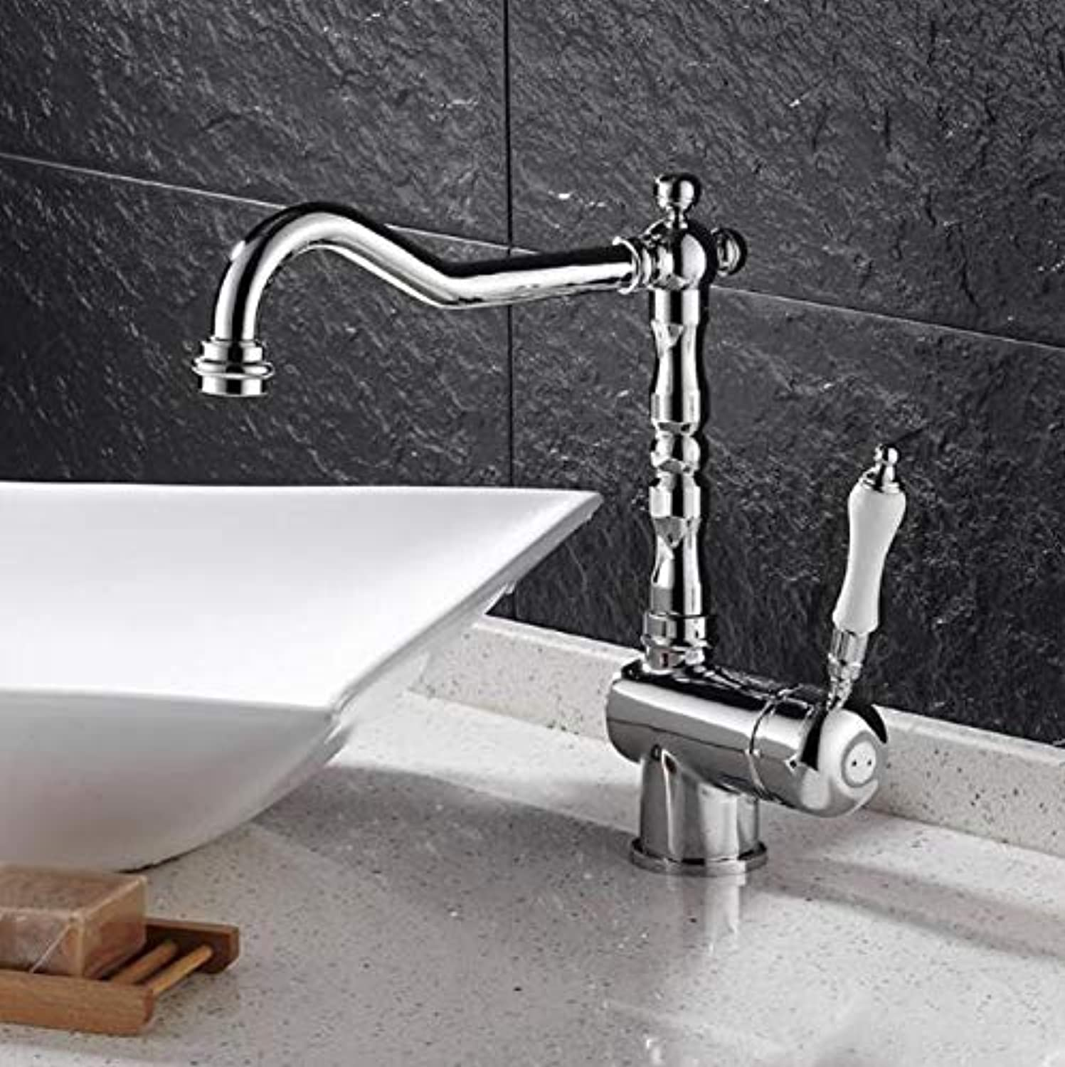 Decorry Luxury redating Hot and Cold Taps Kitchen Faucet Mixers Taps Single Lever Kitchen Sink Taps Sink Chrome Bathroom Faucet Xt-98