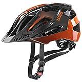 uvex Quatro Casco de Bicicleta, Unisex-Adult, Titan-Orange, 56-60 cm