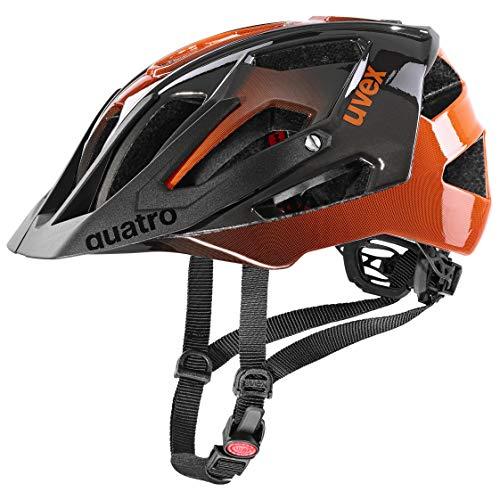 uvex Unisex– Erwachsene Quatro Fahrradhelm, Titan-orange, 52-57 cm