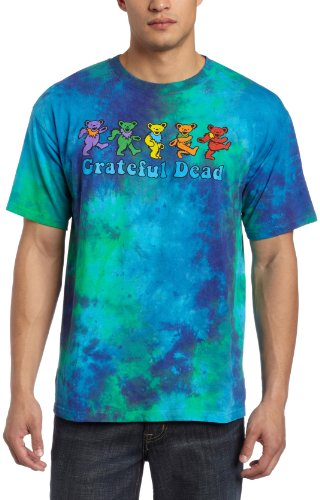 Liquid Blue Men's Grateful Dead Dancing Bear T-Shirt, Multi, X-Large