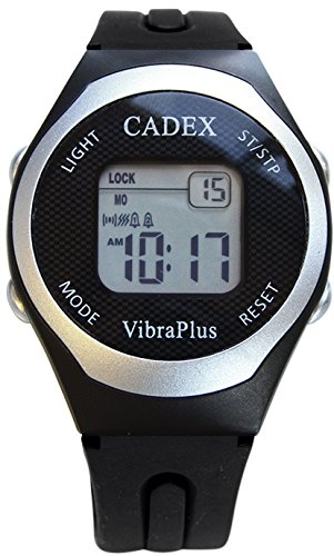 CADEX | VibraPlus Sport | Alarm Watch with up to 8 Vibrating/Sound Alarms for Medication Reminder | Rubber Sport Band