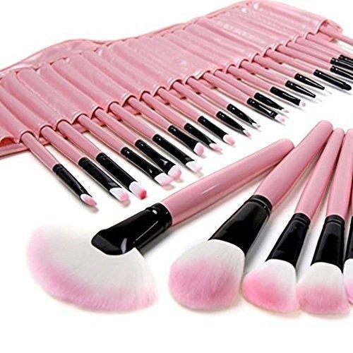 Asien professionnel 32 PCS rose pinceau de maquillage ensemble cosmétique maquillage outil Set fard à paupières, sourcils,