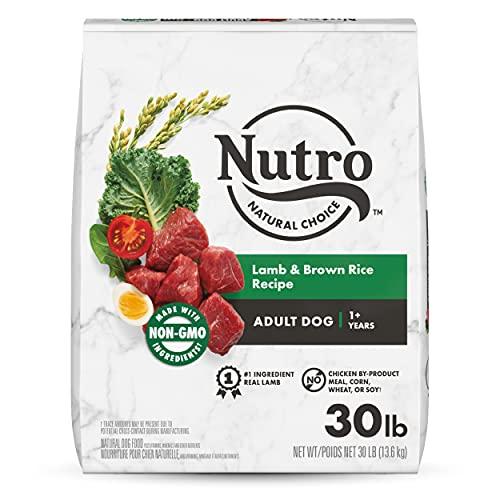 NUTRO NATURAL CHOICE Adult Dry Dog Food, Lamb & Brown Rice Recipe Dog Kibble, 30 lb. Bag