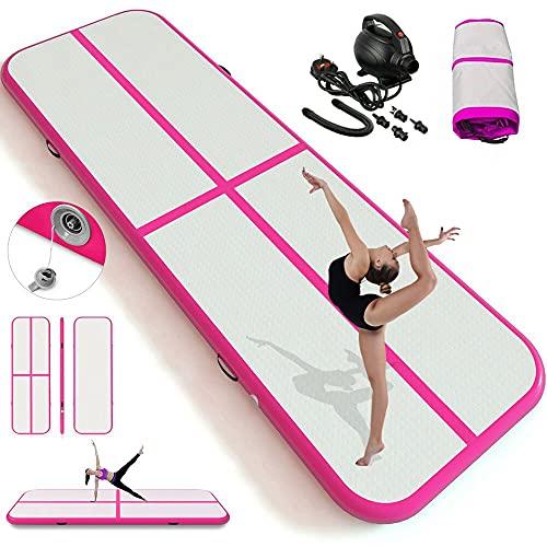 3m Inflatable Tumbling Mat Gymnastic Mat 10cm Thick & 10ft Long Air Floor...