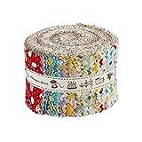 Chuanshui Jelly Roll 100% Baumwolle 25 Stück 2,5 Zoll