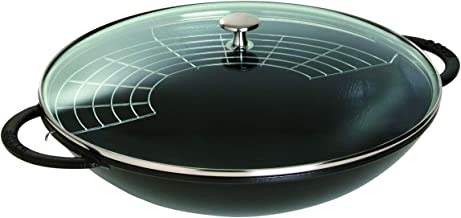 Staub Wok - Glass Lid - Black