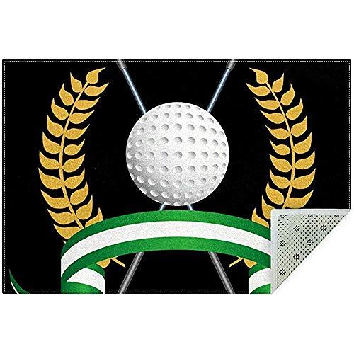 Marlon Kitty Alfombras de área Clubes de Golf Alfombra Grande y Suave Alfombra Antideslizante Sala de Juegos