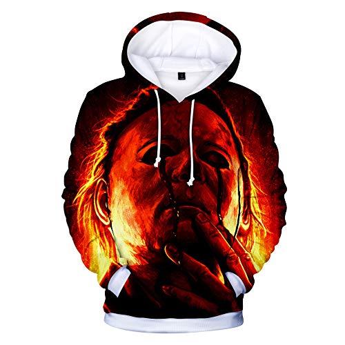 JFRIA Michael * Myers * Halloween- Unisex 3D Hoodie Herren- und Damen-Sweatshirt, lässiger Warmer Pullover, preisgünstiges Hemd