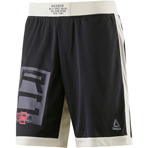 Reebok Herren Combat Boxing Shorts Kurze Hose, Schwarz (Negro), L