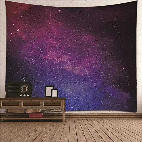 Aimsie Tapiz de pared para habitación infantil, diseño de galaxia y cielo nocturno, poliéster, 210 x 140 cm, color lila