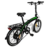 Bicicleta Eléctrica Plegable, 350W 36V 10AH/7.5AH Velocidad máxima 25 km/h 3 Modos de conducción,Resistencia 50-55 kilómetros, para Adolescentes y Adultos,Bici Electricas Adulto,