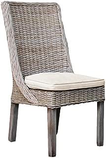 Panama Jack Sunrooms PJS-3001-KBU-SC Exuma Side Chair with Cushion, Sunbrella Dimone Sequoia