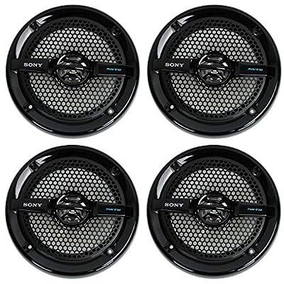 "4) Sony XS-MP1611b 6.5"" 280 Watt Dual Cone Marine Speakers Stereo Black XSMP1611"
