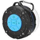 PEYOU Bluetooth Lautsprecher Wasserdicht, Bluetooth Dusch Lautsprecher, Center-Lautsprecher, Mini Bluetooth Lautsprecher, IPX7 wasserdicht, Bluetooth 4.2, für Familienreisen und Strandduschen