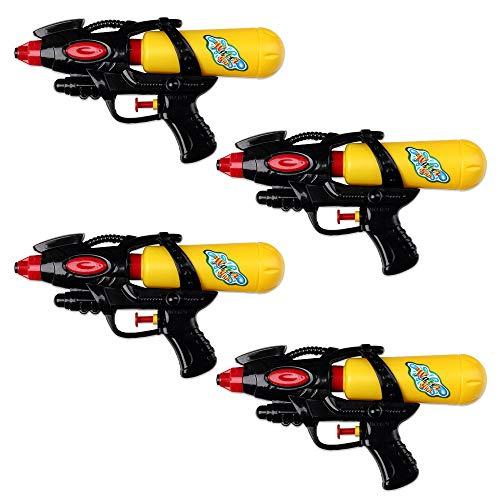 Schramm Pistola de Agua de 4 Piezas 21cm con Tanque Pistola de Agua roja / Negra Pistola de Agua