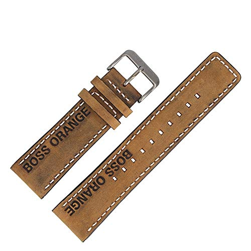 Hugo Boss Uhrenarmband 24mm Leder Braun Leder/Kunststoff - 659302654
