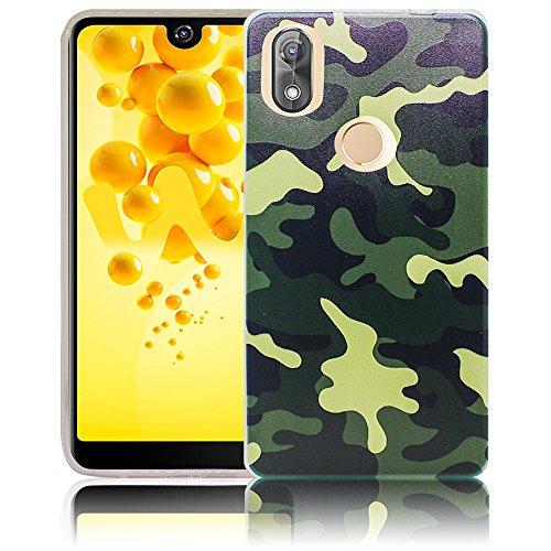 Wiko View 2 Passend Camouflage Handy-Hülle Silikon - staubdicht, stoßfest und leicht - Smartphone-Case