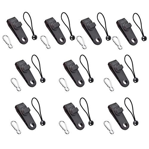 Sharplace 10 Juegos de Pinzas para toldo, Juego de Pinzas de toldo de plástico, Accesorios de Clip instantáneo - Cable Clip mosquetón