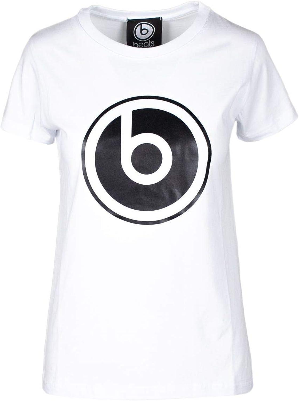 Beats By Dr. Dre Women's BD3020WHITE White Cotton TShirt