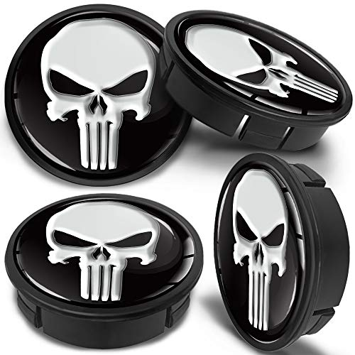 RTRHINOTUNING Set of 4 Push Through Wheel Center Caps 4.25in Chrome Silver for Truck Wheels Rim Trailer