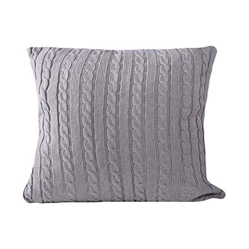 Kecream Twist - Fundas de almohada de punto para coche, fundas de almohada de cintura simples y frescas, para cada venta, material: acrílico, tamaño: 45 x 45 cm (sin incluir el núcleo de almohada)