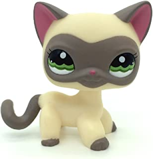 ZAD Littlest Pet Shop Collection LPS Loose Toys Yellow Siamese Kitty Cat 1116