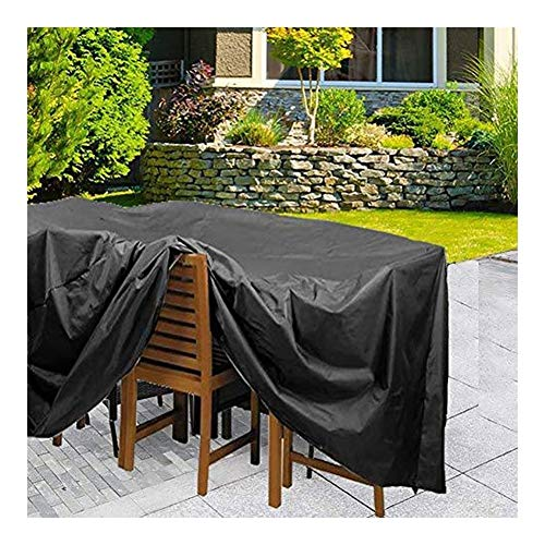 Outdoor Patio Furniture Covers Garden Furniture Covers, Furniture Cover, Patio Furniture Covers Waterproof, Rectangular/Oval Cover, Windproof and Anti-UV, for Sofas and Chairs