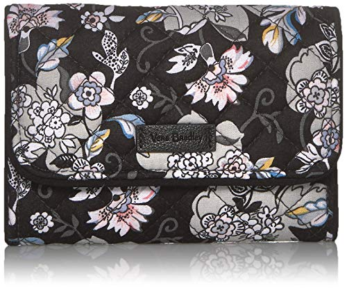 Vera Bradley Signature Cotton Riley Compact Wallet with RFID Protection, Holland Garden