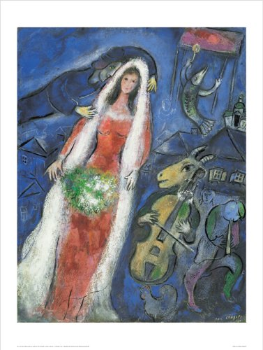 Chagall La Mariee (la mariée) 60 x 80 cm impression artistique