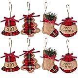 decoración de árbol de Navidad 8 decoraciones colgantes de Navidad adornos colgantes de Navidad,campana/árbol de Navidadcalcetines/medias de bolas para árbol de navidad colgante campana fiesta