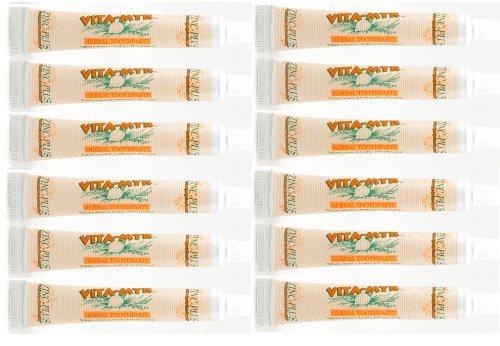 12 Pk VITA-MYR Travel Size Natural Toothpaste 1 Oz Travel Size – Safe & Effective -Vitamyr Toothpaste with No SLS, No Sugar, No Fluoride, No Aspartame, No Saccharin,Gluten Free & Vegan.