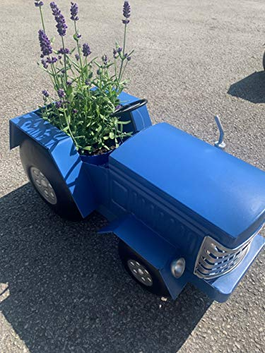 Pricecrunchers Vintage Tractor | Design Planters | Tractor Design | Unique & Hand Painted | Great Gift | Pack of 1 | Blue