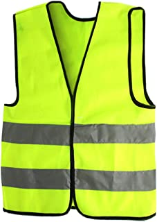 AngelicaAP High Visibility Kids Safety Vest, Children Waistcoat Vest Grey Reflective Strips Traffic Clothes